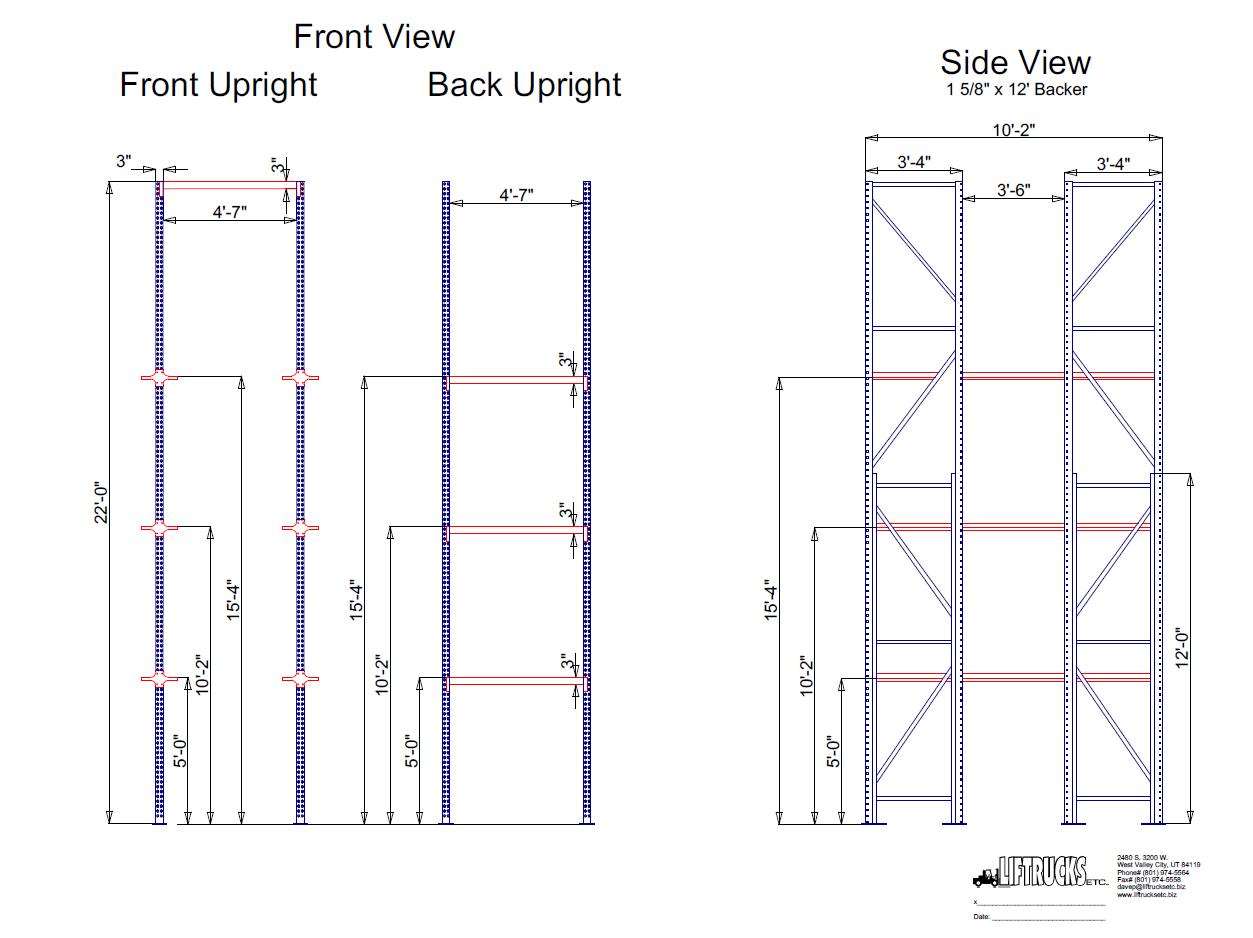 Full CAD Design & Layout – Used forklifts Salt Lake City UT.
